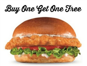 Bogo free big chicken fillet sandwich at carl 39 s jr and Hardee s fish sandwich